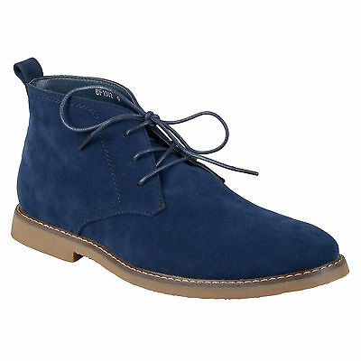 Daxx Mens Faux Suede Lace-up Boots