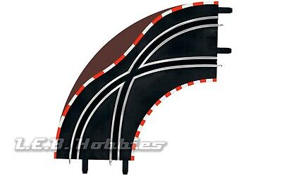 Carrera GO!!! Lane Change Curve 1/90º for 1/43 slot car track, 2/pk 61655