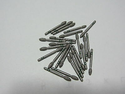 Lot of 25  premier two striper dental coarse football diamond burs, brand new