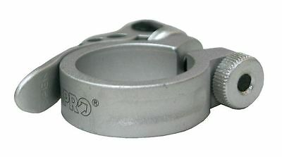 PRO Quick Release Bicycle Seat Clamp SILVER 34.9mm