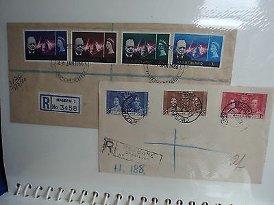 Swaziland Album With Vintage  Stamps Wiyh Envelpoes  In Good Condition