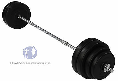 New 60kg Barbell weightlifting Set For Bench Press Curls Rows Ect Weights Bar