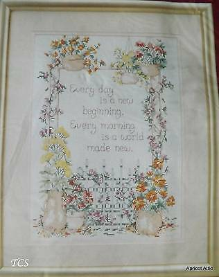 Needle Treasures GARDEN GATE SAMPLER Counted Cross Stitch Unopened 10 x 14 ins