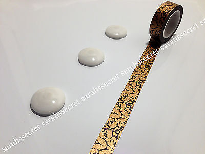 Japanese Washi Tape 15mmx10m Antique Oriental Gold Black #W365