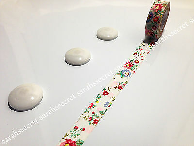 Japanese Washi Tape 15mmx10m Multi Colour Vintage Floral Flower #W225