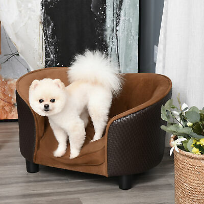 PawHut Pets Lounge Sofa Bed w/ Cushion Luxury Plush Comfort Couch High Quality