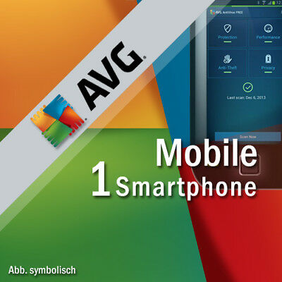 AVG Mobile AntiVirus Security PRO 1 Smartphone / Tablet mit Android 1 Jahr
