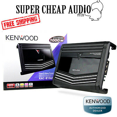 New Kenwood Kac-8106D 1000W Class D Monoblock Car Audio Stereo Amplifier Sub Amp