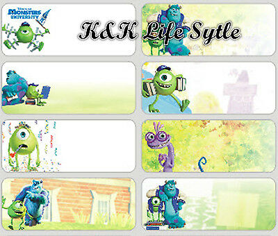 36 Monster Unveristy  Personalised vinyl name Label Sticker School, Childcare