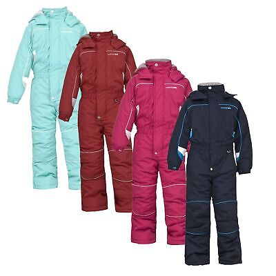 Trespass LAGUNA Kids Boys Girls Waterproof Padded All In One Snow Suit Snowsuit