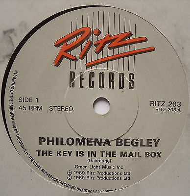 "PHILOMENA BEGLEY - The Key Is In The Mail Box - Ex Con 7"" Single Ritz RITZ 203"