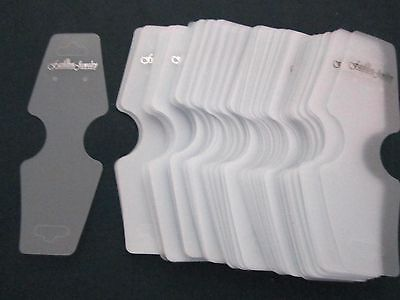 100 hang fold plastic display cards, earrings necklace bracelet almost 5 inch