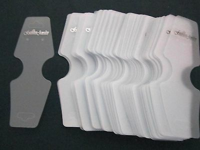 100 jewelry fold plastic display cards, necklace bracelet earrings almost 5 inch