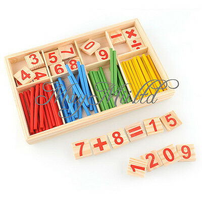 Wooden Montessori Mathematics Material Early Learning Counting Toy for Kids