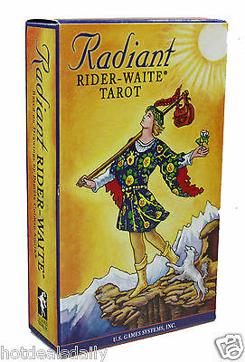 Radiant Famous Rider Waite Tarot Cards Deck Pamela Colman Smith Nib Divination
