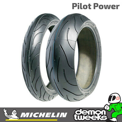 Michelin Pilot Power 120/70 ZR17 (58W) & 180/55 ZR17 (73W) Motorcycle Tyres