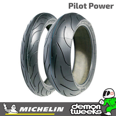 Michelin Pilot Power Motorcycle/Bike Tyre - 120/70/17 And 180/55/17 Pair