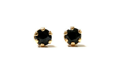 9ct Gold 3mm Sapphire earrings Stud Gift Boxed Made in UK