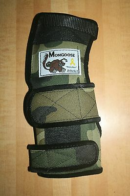 "Mongoose ""Lifter""  Bowling Wrist Band Support, LLLC, Left Hand, Large, Camo"