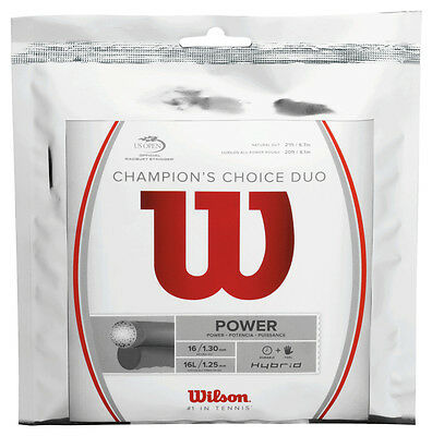 Wilson Champion's Choice Natural Gut + Alu Power Rough Tennis Strings Hybrid Set