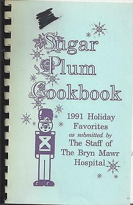 *bryn Mawr Pa 1991 Sugar Plum Cook Book *hospital Staff *holiday Favorites *rare