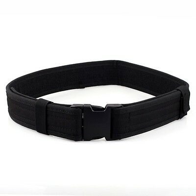 """2.3"""" Police Army Security Combat Gear Tactical Utility Nylon Duty Belt USA Black"""