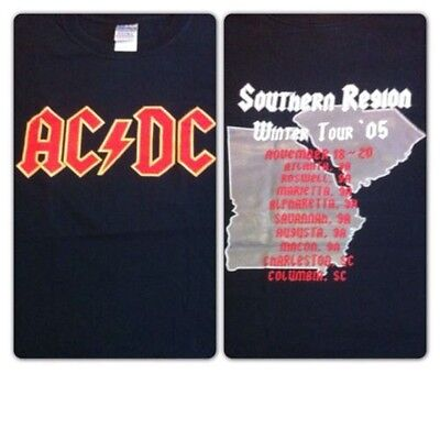 RAREAC/DC VINTAGE RARE 2005 Southern Regions Winter Tour NEW size Small Mint