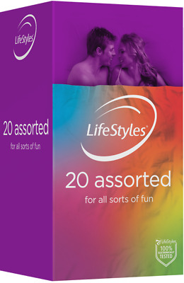Ansell LifeStyles Assorted Flavoured Textured Glow BULK BUY 24 +10 Nano Condoms