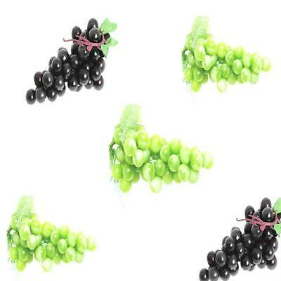 Bunch of Artificial Green Black Grapes - Fake Fruit Display Props