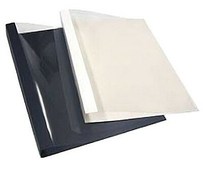 "Thermal Binding Covers - Maroon Embossed Front & Back, 1/8"" spine"
