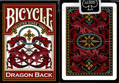 1 Deck Bicycle Dragon Back Red Standard Poker Playing Cards Brand New Deck