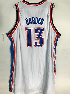 b7b3db763c34a Adidas Swingman NBA Jersey Oklahoma City Thunder James Harden White sz 2X