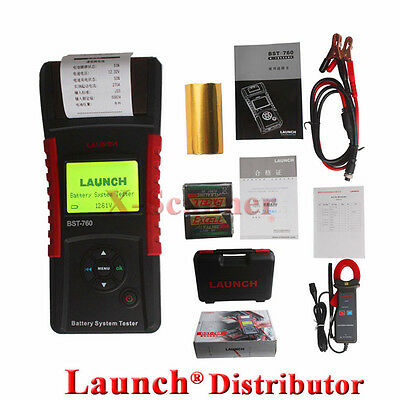 100%  Original Launch BST-760 Battery System Tester Tools With Mini Printer