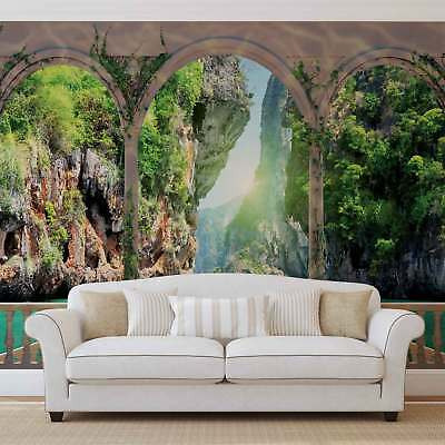 WALL MURAL PHOTO WALLPAPER PICTURE (1071VEVE) Arches Beach Sea