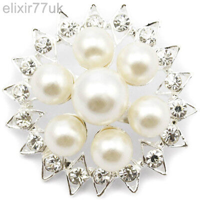 New Silver Flower Pearl Pin Brooch Vintage Bouquet Backs Sterling Lot Solid Job