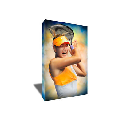Tennis Star MARIA SHARAPOVA Poster Photo Painting Artwork on CANVAS Wall Art