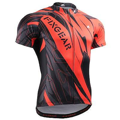 FIXGEAR CS-6802 Men s Short Sleeve Cycling Jersey Bicycle Apparel Roadbike  MTB 6552e951e