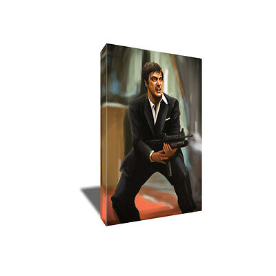 SCARFACE Say Hello To My Little Friend Poster Photo Painting on CANVAS Wall Art