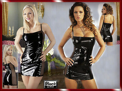 Lack Minikleid Black Level  GOTHIC S M L XL 36 38 40 42 Clubwear