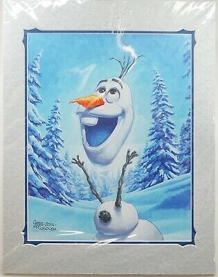 NEW Disney Frozen Olaf Giclee Print Signed by Greg McCullough 18x14