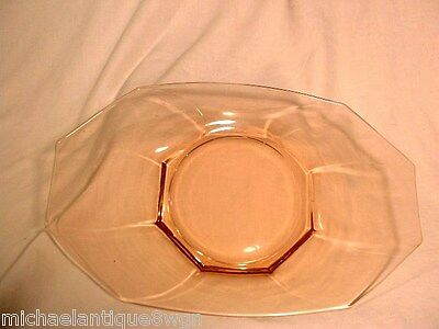 """Vintage Cambridge 12 3/4"""" Peach-Blo Pink 8 Sided Octagon Serving Tray"""