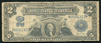 Fr. 258 1899 $2 TWO DOLLARS LARGE SIZE SILVER CERTIFICATE CURRENCY NOTE