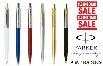 Parker Jotter Ballpoint Pen Black Ink In Black / Blue / Red /White/Silver & Gold