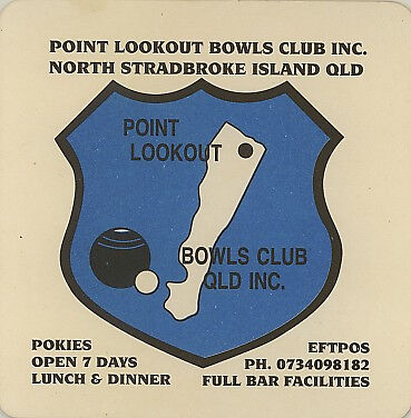 Coaster: Point Lookout, Bowls Club.