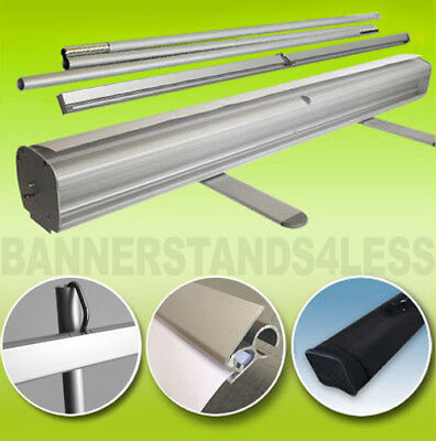 10 PACK - 24x79 Retractable Roll Up Pop Up Trade Show Display Banner Stand