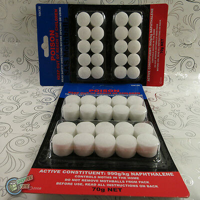 Mothballs packet of 40 balls 70 g moth moths clothes cupboards protection cloth