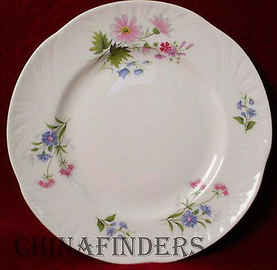 """CROWN STAFFORDSHIRE china WILD FLOWERS pattern Salad Plate @ 8 1/4"""""""
