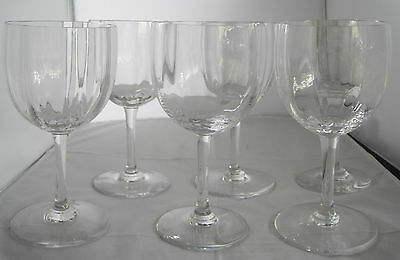"""BACCARAT MONTAIGNE OPTIC CRYSTAL GLASS 6 3/8"""" WATER GOBLET - SET OF 6"""