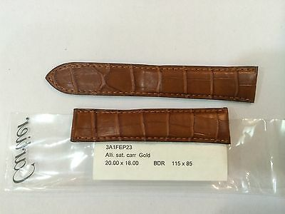 Cartier watch Genuine Leather strap 20mm X 18mm Carr Gold  mint in Condition .