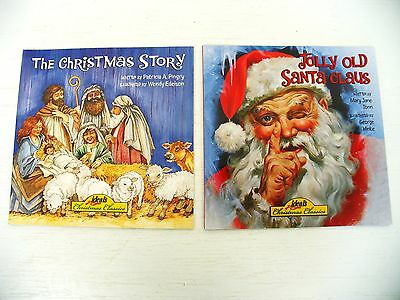 Lot The Christmas Story/Jolly Old Santa Claus kids picture books Ages 3-6